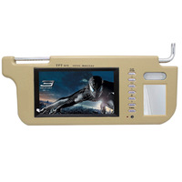 The left or right Car sun visor display sun-shading boards display screen 7 video input reversing car monitor
