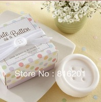 "FREE SHIPPING 10pcs High Quality Wedding Favor Gift of ""Cute as a Button"" Scented Soap 2013"