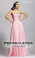 Elegant design givlie double-shoulder long formal dress bride evening dress lady dress banquet service costume