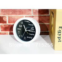 mathematics style alarm clock fashion table desk Math Clock science and engineering Fashion digital Acrylic circular wall clock