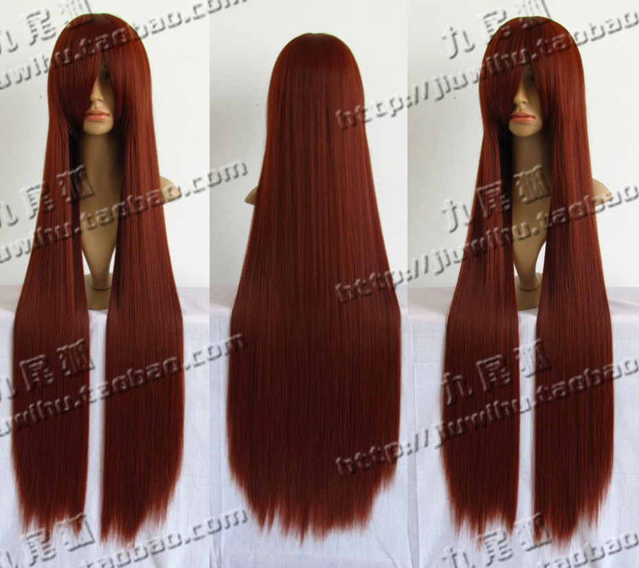 Wig Long Straight Red Auburn 76