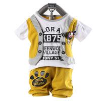 100 cotton 2013 new baby romper summer    boy's suit  3pcs/lot wholesale baby clothes