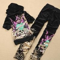 Fashion short sleeve length pants print velvet set 2013 women's sports casual sets