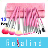 New Pink 13 Pcs Professional Makeup Brush Set Cosmetic Make up Brushes Tool Kit