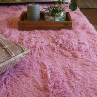 Carpet pink plush mats 130 185
