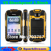 Discovery V5 Phone Android 4.0 MTK6515 1.0GHz WiFi 3.5 Inch Capacitive Screen Dustproof Shockproof Smart Phone