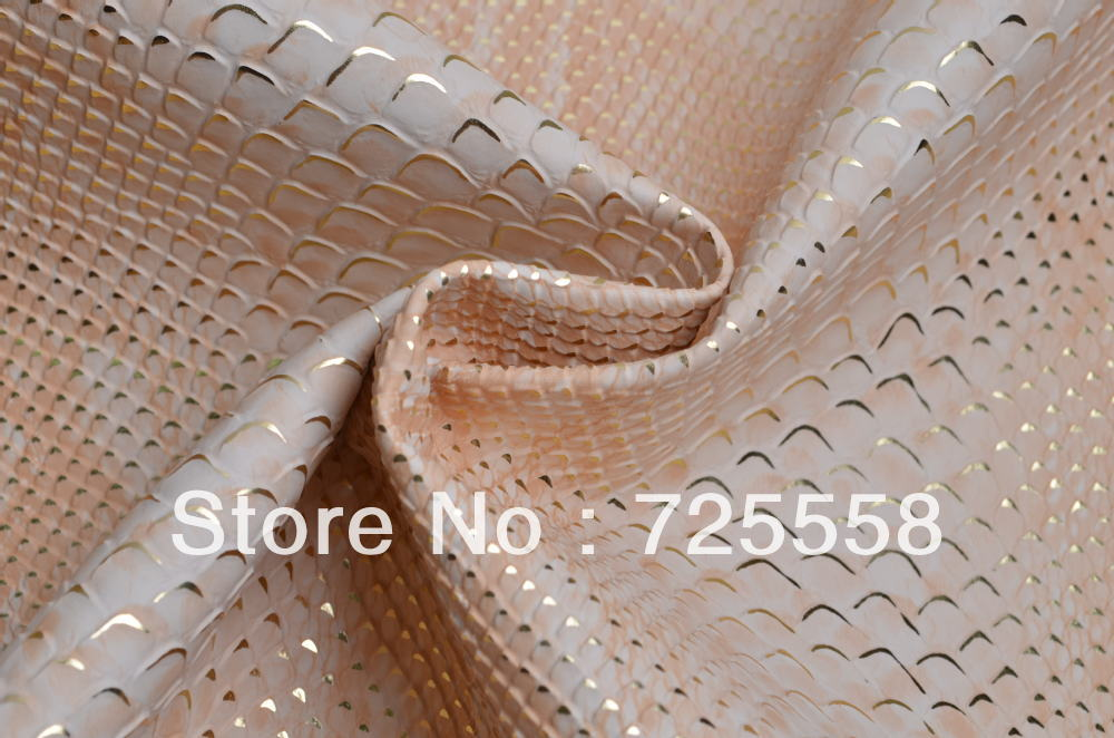 Free Shipping-One Yard White Camel Snake Skin Leather Fabric,Heavy Faux Leather Fabric For Making Bags and Purses,Clutch(China (Mainland))