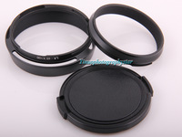 Lens Hood LA-49 X100 Adapter Ring + Lens cap For FUJIFILM Fuji X100 X100s Black+Free shipping