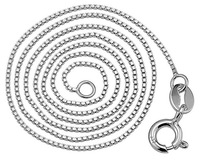 Wholesale & Retail genuine sterling  silver 925 jewelry  16 inch  18inch silver chains necklaces
