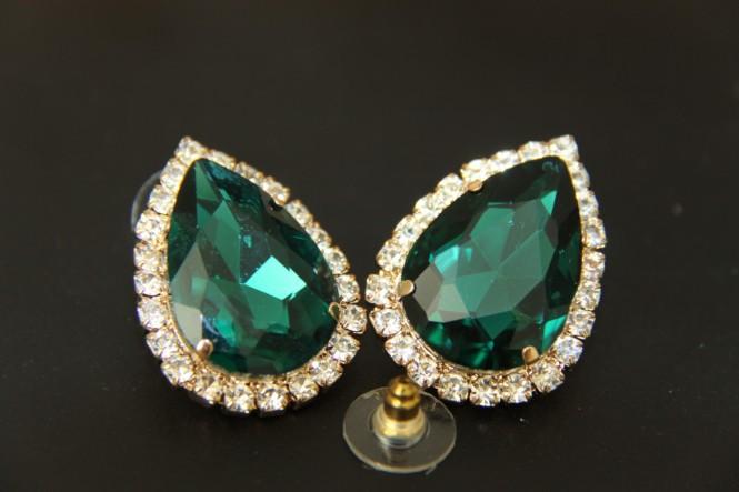 stud earring female fashion accessories large rhinestone sexy vintage