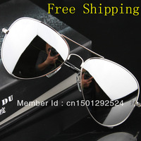 Free shipping 2013 Hot Selling brand sunglasses men women  rb 3025 Reflective metal fashion Excellent Quality