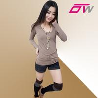 Spring new arrival women's 2013 modal elastic slim round neck T-shirt female long-sleeve basic shirt t-shirt