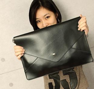 2013 vintage envelope bag fashion women's black red day clutch women's briefcase handbag small bag