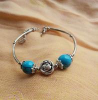 (Min order $10) National trend vintage accessories bracelet tibetan silver tibetan jewelry turquoise bracelet sl020