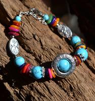 (Min order $10) Handmade national trend accessories tibetan jewelry bracelet silver bracelet sl127