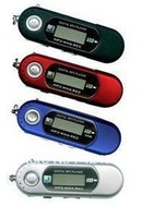 Wholesale 1pcs AAA battery supported USB Digital screen MP3 Player with FM radio + TF card slot .