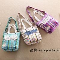 Aero plaid canvas bag shoulder bag messenger bag handbag women's