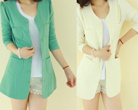 Women's 2013 spring slim plus size suit outerwear spring and autumn summer women's medium-long blazer