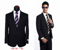 2013 New Fahsion Men Black Business Suits,One Button Formal Dress Suits,Top Tuxedo,Slim Fit Suits for Men,coat and pants