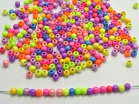 "1000 Mixed Matte Fluorescent Neon Beads Acrylic Round Beads 4mm(0.16"")"