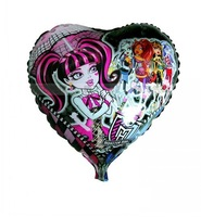 10 pcs MONSTER HIGH school foil Helium balloons party supply Inflatable toys gifts for children, 45X45CM Heart shape