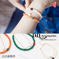 Female pearl bracelet multi-layer fashion honey bracelet accessories candy color bracelet