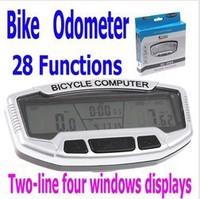 Wholesale 28Functioms Waterproof Bike Bicycle Digital LCD Computer Velometer Backlight Clock Stopwatch Retail Packaging