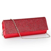 Shaping bag hot-selling women's handbag summer horizontal rhinestone evening bag day clutch white collar