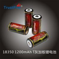 200PCS New Trustfire 18350 Battery 3.7V 1200mAh Rechargeable Protected Battery PCB Protection Protected Board + Free Shipping