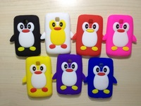 3D Cute Penguin Silicone Soft Case for LG Optimus L3 II dual E435 for L5 II dual E455  for /L7 II dual P715 1pcs/LOT