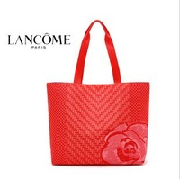 Special ! 2013 Summer since the catching large geometric roses portable shoulder bag in sexy red bag beach bag