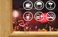 Show window stickers covering decoration stickers, free combination cute  offer service symbol for shops free shipping