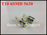 Free shipping Precision T10 w5w no error 6SMD 5630 smd canbus 12v input led high power decorative light car