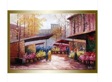 Leike Romantic Paris oil painting Price: US $45.00 / piece(China (Mainland))