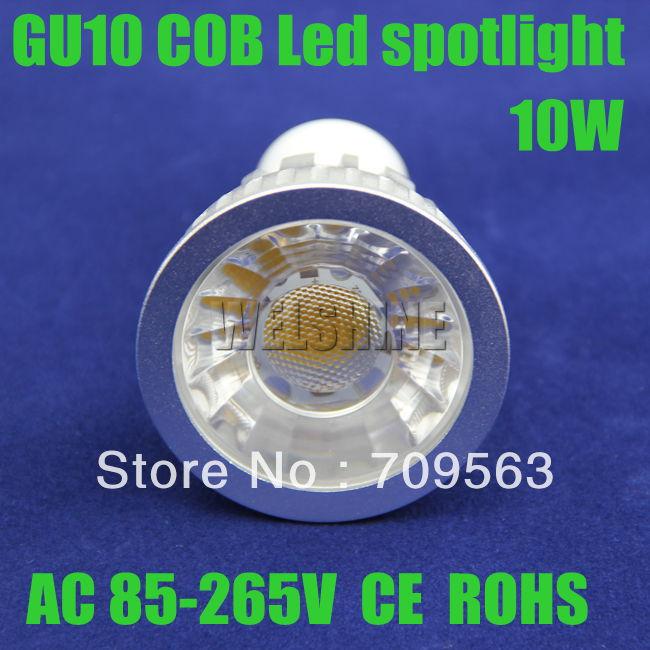 200X GU10 10W led home lighting automotive cob led gu10 led recessed lighting individual led lights size 50X70MM CE ROHS-029(China (Mainland))