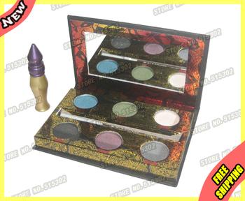 CosmetIc Makeup 6 Color Eyeshadow Palette Make up Eye shadow PencIl 24/7+ primer PrImer The Dangerous Free shipping Kit Set 1Pcs