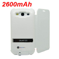New 2600mAh Portable Power Bank External Battery Case for SAMSUNG Galaxy S3 i9300 with cover