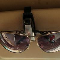 4PCS/LOT Hot Sales Fashion Smart glasses clip car Sun Visor Vehicle Sunglasses Eyeglasses Holder Clip Durable