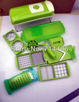 Free Shipping nicer dicer plus,Vegetable Fruit Nicer Dicer Slicer Cutter Plus Container Chopper Peeler as seen on tv ,24pcs/lot