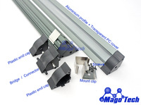 LED Profile LED linear Light housing (alu profile+ end caps+mount clips)-1M