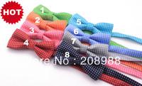 Hot Selling! Fashion children's polka dot bow tie boys & girls bow tie kids bowtie DHL/Fedex Free shipping 100pcs #1577A