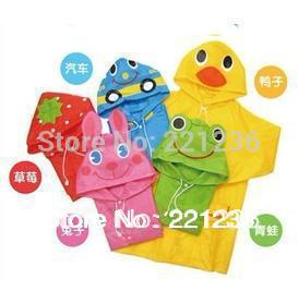 Free Shipping Rain Coat children Raincoat Rainwear/Rainsuit,Kids Waterproof Animal Raincoat Children's cartoon poncho 1pc/lot