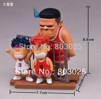 Free Shipping Slamdunk Scene Action Figure -- Takenori Akagi With Sakuragi Hanamichi PVC Figure Model, Display Figure Toy