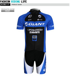 Hot Sale! Blue Mens Woman's University Students Short Sleeve Cycling Breathable Polyamide Clothing Suit Models Jerseys + Pants(China (Mainland))