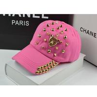 Outdoor casual summer rivet baseball cap hat leopard head male lovers cap women's cap