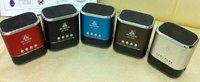 Freeshipping 20pcs/lot Original Hi-Rice SD-809 portable Mini Speaker with FM+mental Case+Flash light