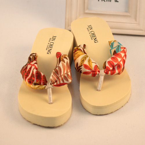 ten National trend bohemia beach flip flops wedges sandals platform female slippers(China (Mainland))