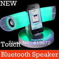 New Arrival LED Touch Studio Bluetooth Speakers Portable Wireless Stereo Speaker for Mobile IPhone Ipad Free Shipping