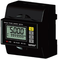 Single Phase rail mounting energy meter/multi-rate/free shipping/OEM and ODM service