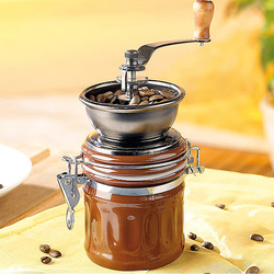 Stainless steel hand coffee mill beans coffee mill ceramic manual coffee grinder household(China (Mainland))
